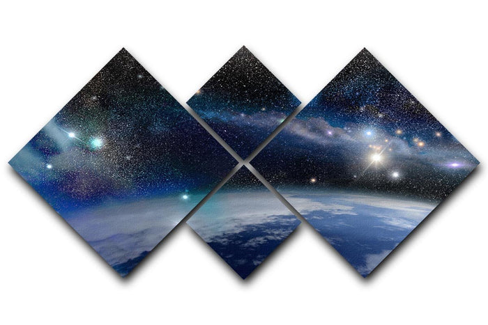 Earth in a Cosmic Cloud 4 Square Multi Panel Canvas