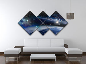 Earth in a Cosmic Cloud 4 Square Multi Panel Canvas - Canvas Art Rocks - 3