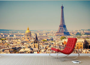 Eiffel Tower Sunny Day Wall Mural Wallpaper - Canvas Art Rocks - 2