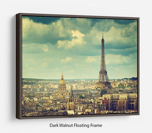 Eiffel tower Paris France Floating Frame Canvas