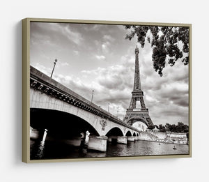 Eiffel tower view from Seine river HD Metal Print