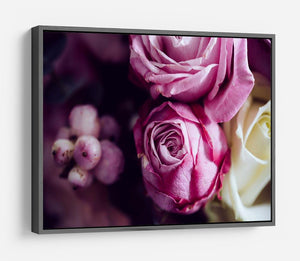 Elegant bouquet of pink and white roses HD Metal Print
