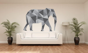 Elephant Silhouette Wall Sticker - Canvas Art Rocks - 1