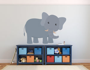 Elephant Wall Sticker - Canvas Art Rocks - 1
