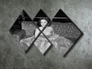 Elizabeth Taylor In A Dress 4 Square Multi Panel Canvas  - Canvas Art Rocks - 2