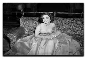 Elizabeth Taylor In A Dress Canvas Print or Poster  - Canvas Art Rocks - 1
