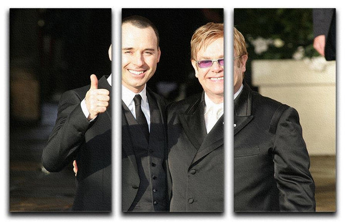 Elton John and David Furnish 3 Split Panel Canvas Print