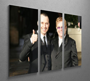Elton John and David Furnish 3 Split Panel Canvas Print - Canvas Art Rocks - 2