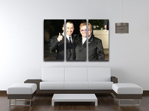 Elton John and David Furnish 3 Split Panel Canvas Print - Canvas Art Rocks - 3