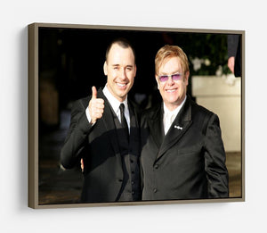 Elton John and David Furnish HD Metal Print