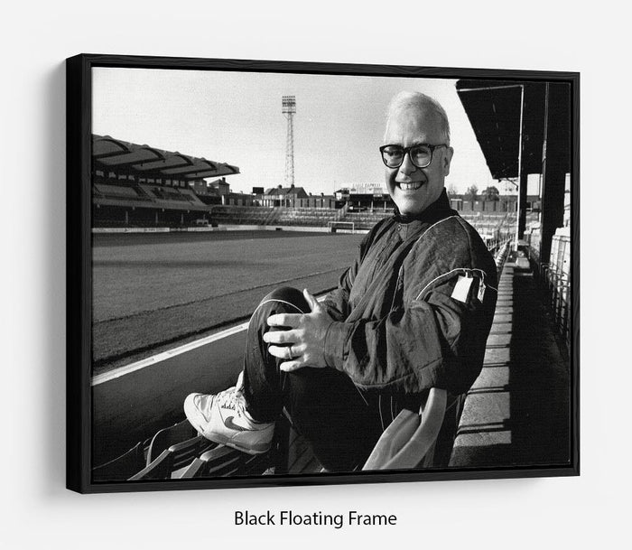 Elton John at Vicarage Rd Floating Frame Canvas