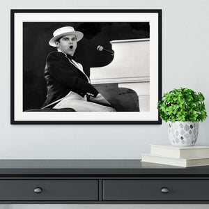 Elton John at the piano Framed Print - Canvas Art Rocks - 1