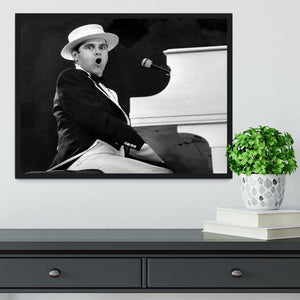 Elton John at the piano Framed Print - Canvas Art Rocks - 2