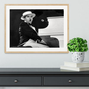 Elton John at the piano Framed Print - Canvas Art Rocks - 3