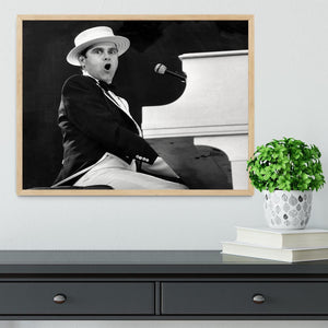 Elton John at the piano Framed Print - Canvas Art Rocks - 4