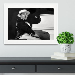 Elton John at the piano Framed Print - Canvas Art Rocks - 5