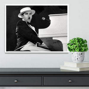 Elton John at the piano Framed Print - Canvas Art Rocks -6