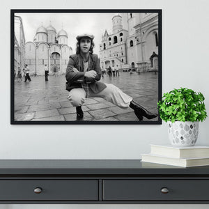 Elton John in Red Square Framed Print - Canvas Art Rocks - 2