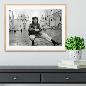 Elton John in Red Square Framed Print - Canvas Art Rocks - 3