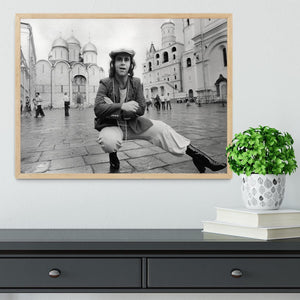 Elton John in Red Square Framed Print - Canvas Art Rocks - 4