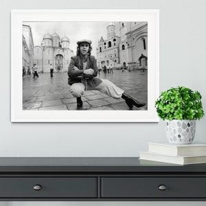 Elton John in Red Square Framed Print - Canvas Art Rocks - 5