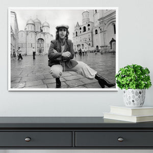 Elton John in Red Square Framed Print - Canvas Art Rocks -6