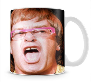 Elton John singing Mug - Canvas Art Rocks - 1