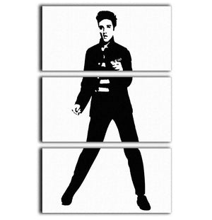 Elvis Presley Jailhouse 3 Split Panel Canvas Print - Canvas Art Rocks - 1
