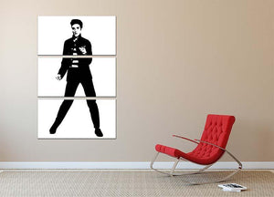 Elvis Presley Jailhouse 3 Split Panel Canvas Print - Canvas Art Rocks - 2