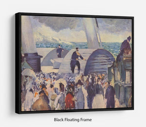 Embarkation after Folkestone by Manet Floating Frame Canvas