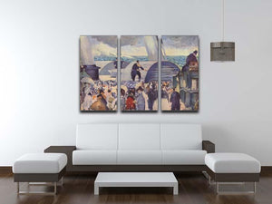 Embarkation of the Folkestone by Manet 3 Split Panel Canvas Print - Canvas Art Rocks - 3