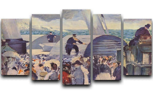 Embarkation of the Folkestone by Manet 5 Split Panel Canvas  - Canvas Art Rocks - 1