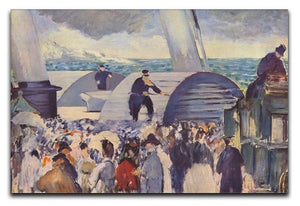 Embarkation of the Folkestone by Manet Canvas Print or Poster  - Canvas Art Rocks - 1