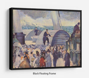 Embarkation of the Folkestone by Manet Floating Frame Canvas