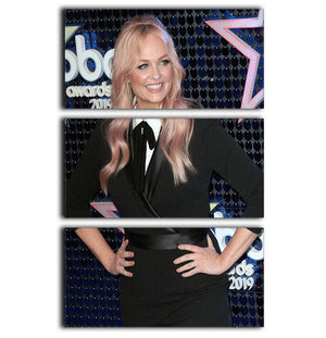 Emma Bunton 3 Split Panel Canvas Print - Canvas Art Rocks - 1