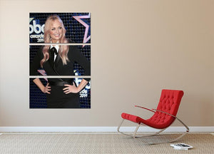 Emma Bunton 3 Split Panel Canvas Print - Canvas Art Rocks - 2
