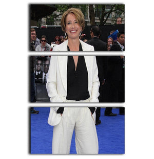 Emma Thompson 3 Split Panel Canvas Print - Canvas Art Rocks - 1