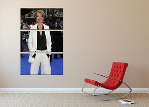 Emma Thompson 3 Split Panel Canvas Print - Canvas Art Rocks - 2