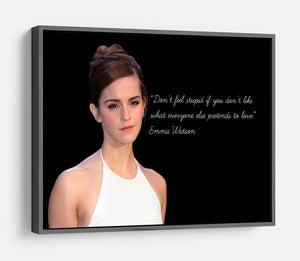 Emma Watson Dont Feel Stupid HD Metal Print