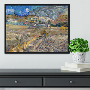 Enclosed Field with Peasant Framed Print - Canvas Art Rocks - 2