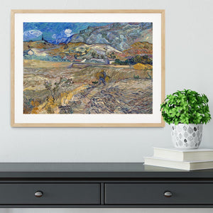 Enclosed Field with Peasant Framed Print - Canvas Art Rocks - 3