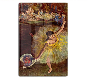 End of the arabesque by Degas HD Metal Print - Canvas Art Rocks - 1