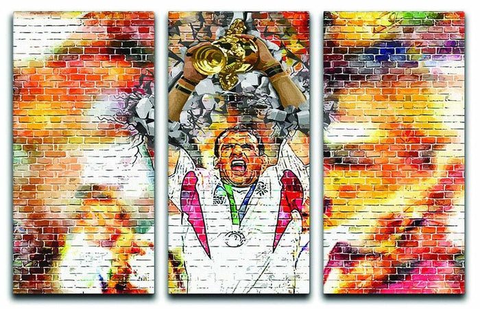 England Rugby World Cup Win 2003 3 Split Panel Canvas Print
