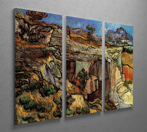 Entrance to a Quarry near Saint-Remy by Van Gogh 3 Split Panel Canvas Print - Canvas Art Rocks - 4