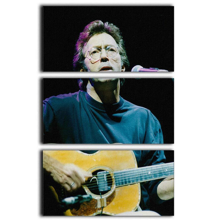 Eric Clapton live 3 Split Panel Canvas Print