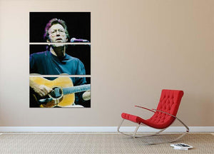 Eric Clapton live 3 Split Panel Canvas Print - Canvas Art Rocks - 2