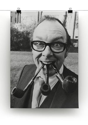 Eric Morecambe with three pipes in his mouth Canvas Print or Poster - Canvas Art Rocks - 2