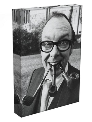 Eric Morecambe with three pipes in his mouth Canvas Print or Poster - Canvas Art Rocks - 3