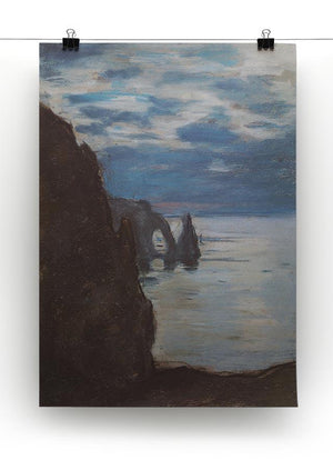 Etretat by Monet Canvas Print & Poster - Canvas Art Rocks - 2