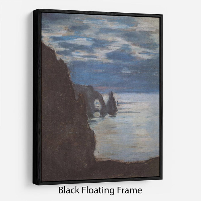 Etretat by Monet Floating Frame Canvas